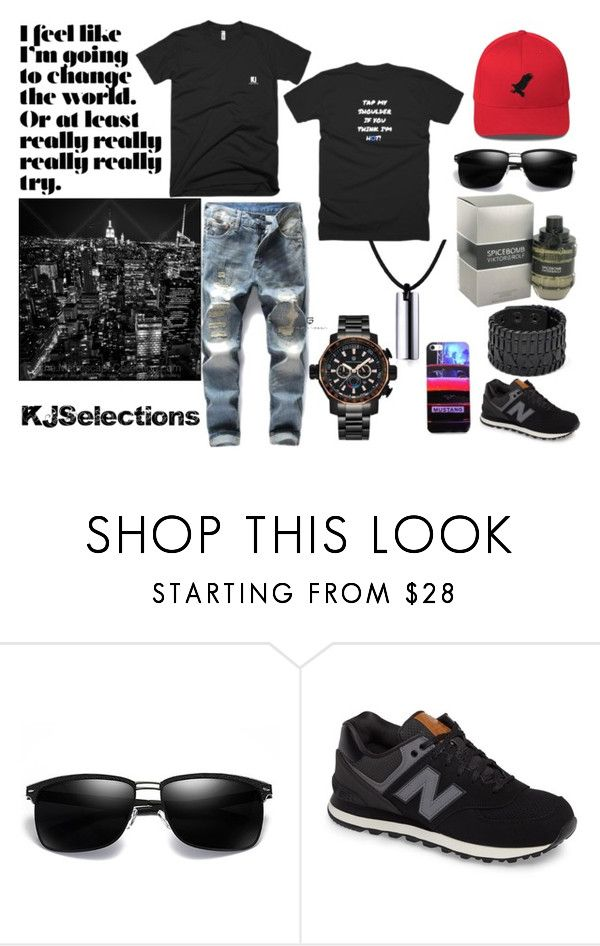 """""""I Feel Very Confident"""" by kjselections ❤ liked on Polyvore featuring Viktor & Rolf, New Balance, men's fashion and menswear"""