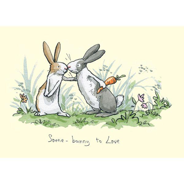 Открытка два зайца