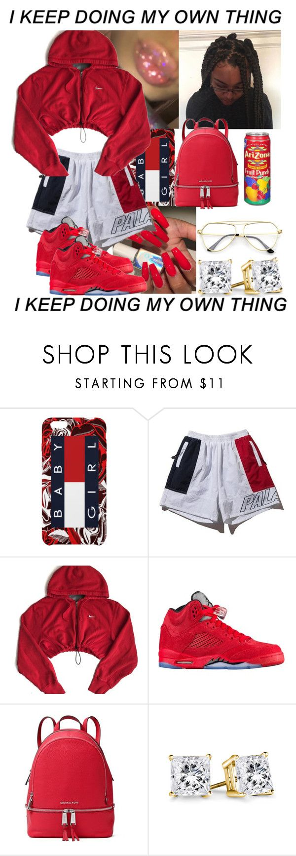 """❤️❤️❤️❤️❤️"" by queenag123 ❤ liked on Polyvore featuring NIKE and MICHAEL Michael Kors"