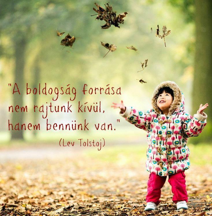 A boldogság forrása nem rajtunk kívül, hanem bennünk van. - Tolstoj
