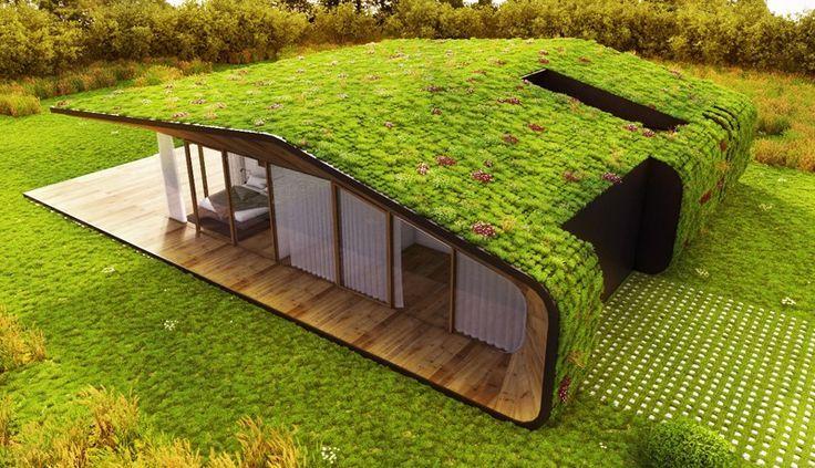 Mooie geïntegreerde #architectuur onder een groendak @dakwaarde