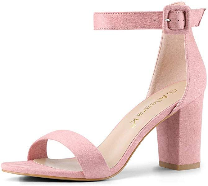 da122506eab Amazon.com | Allegra K Women's Chunky High Heel Ankle Strap Sandals ...
