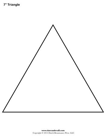 Simplicity image intended for triangle template printable