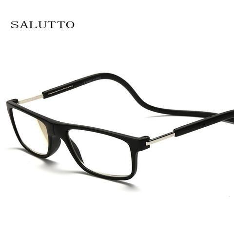 00b8935d1810 Classic Magnet Reading Glasses men women Eyeglasses Folded Hanging Magnetic  Presbyopia Glasses Strength Eyewear 1.0 -4.0