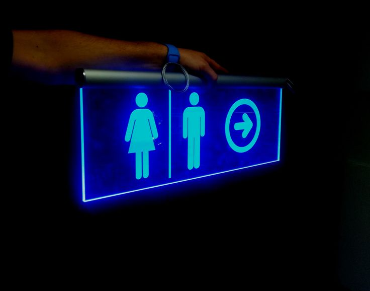 Illuminated Toilet Sign for Life Church by Speedy Signs Newton