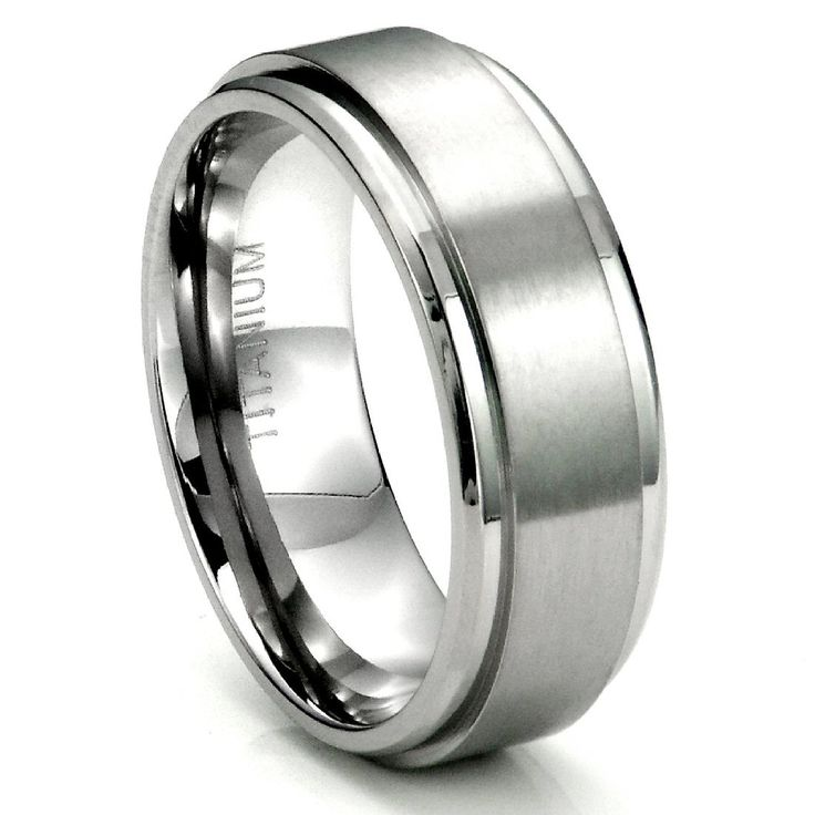 Sterling Silver Wedding Band Invisible Cut CZ Unisex Mens Ring
