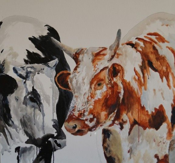 There's something magical and majestic about how cattle carry themselves and how this translates in artwork. This painting is part of a cattle series I am currently working on. All paintings can be viewed at http://www.shellywillingham.com