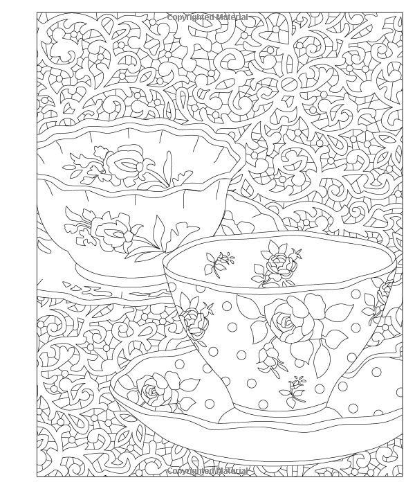 Elegant Tea Party Coloring Book Youre InvitedRelax