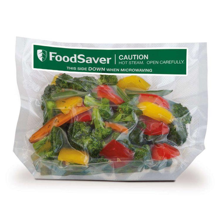 Foodsaver FSB002 Magnetron stoomzakken € 15,95 FoodSaver® Freeze 'N Steam zijn speciaal ontworpen om gemakkelijk te vullen. Hier krijg je een voorsprong op een diner bij de voorbereiding. Zakken vullen, kruiden erbij, vacuümverpakking opslaan in de vriezer of koelkast en in de magnetron als dat nodig is! BPA-vrij.  1 liter inhoud Geventileerd, stand-up ontwerp voor gemakkelijk vullen. Multi-ply materiaal voorkomt vriesbrand 16 stuks