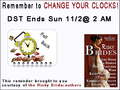 Don't Forget–DST Ends Tonight! | Vicki Hinze