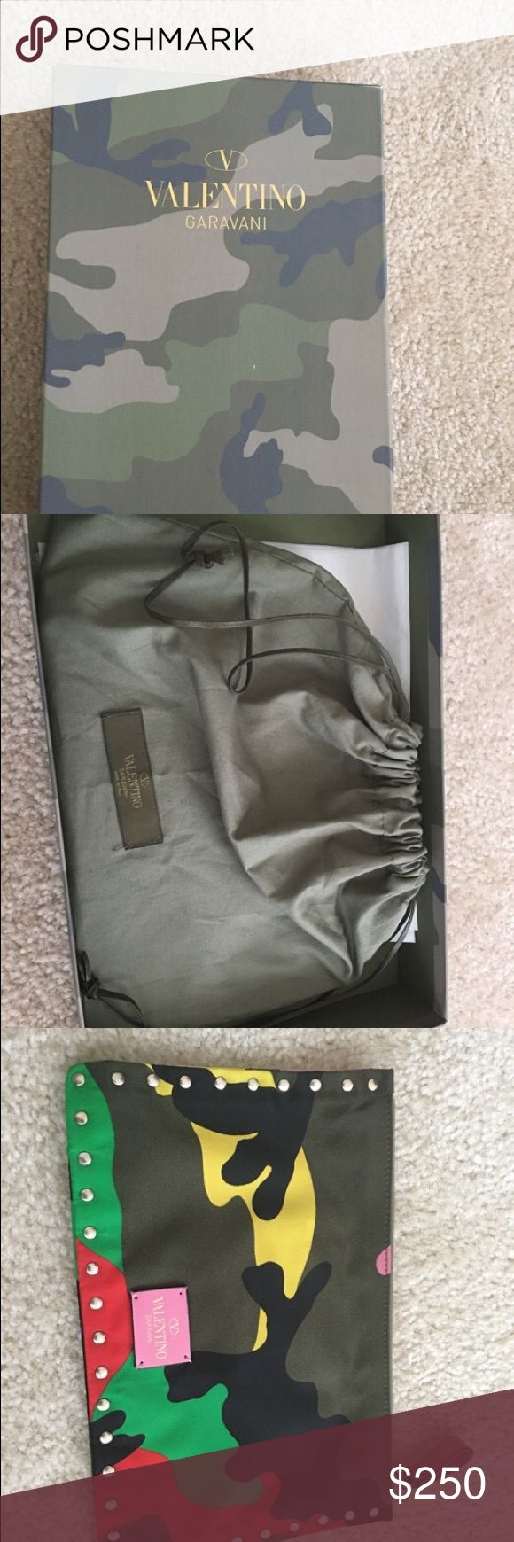 Valentino Clutch Valentino Clutch. Brand new, never used! Please let me know if you have any questions. 702-366-5663 Valentino Garavani Bags Clutches & Wristlets