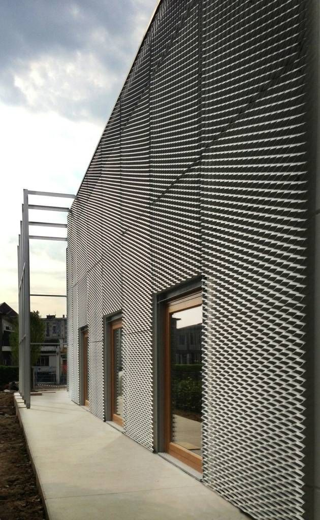 die 25 besten ideen zu fassadenverkleidung metall auf pinterest metallfassade. Black Bedroom Furniture Sets. Home Design Ideas