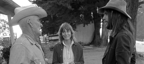Louie Avila, Carrie Snodgress and Neil Young at Broken Arrow Ranch in 1971 by Henry Diltz