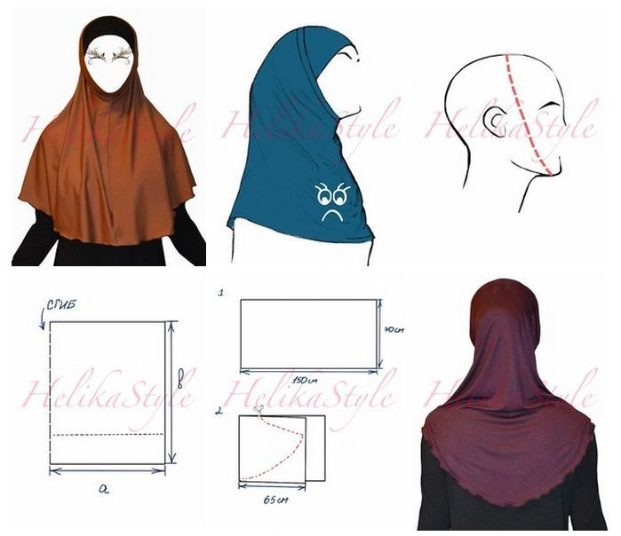 How to sew al-Amira hijab. Base pattern. Detailed instructions. The most detailed sewing tutorial for al-Amira hijab. Sew hijabs with us! HelikaStyle