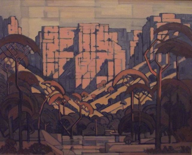 J H Pierneef, (cubist-kloof) Rustenburg Kloof
