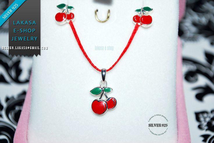 #cherry #set #earrings #necklace #jewelry #enamel #red #joyas #kids #collection #children #school #moda #silver #jewellery #bestideasgifts #birthdaygifts #birthday #παιδι #κοριτσι #παιδικο #κοσμημα #setkids #κερασια #φρουτα #σμαλτο #κοκκινο #πρασινο #κερασακια #sweet #cherries #freeshipping #free #delivery #αντικαταβολη #δωρεαν #εξοδα