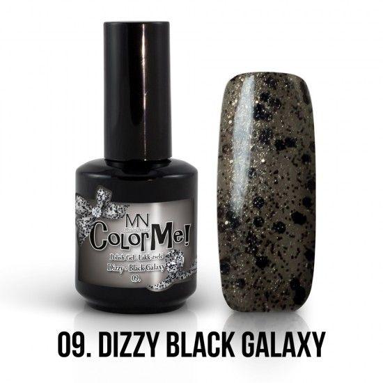 ColorMe! Dizzy no.09. - Dizzy Black Galaxy 12ml gel polish lakkzselé gél lakk nail art mystic nails