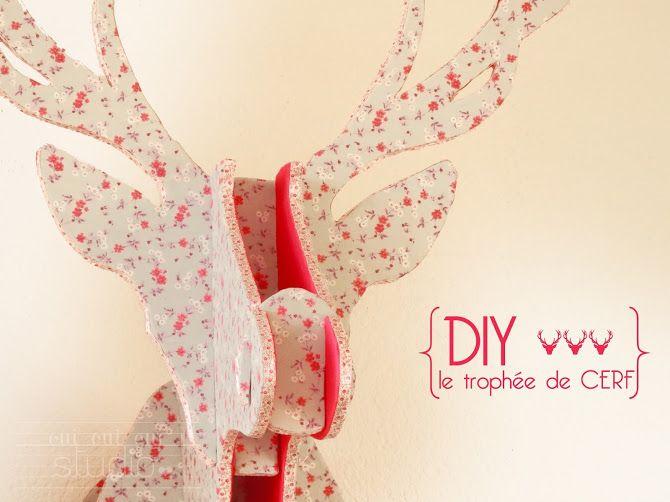 OUI OUI OUI studio: DIY ♥ TROPHÉE DE CERF - modèle téléchargeable