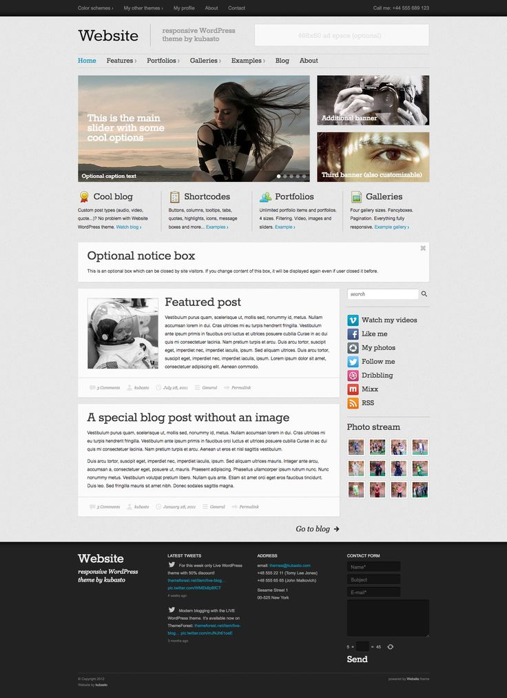 Website is easy to use high quality WordPress theme.