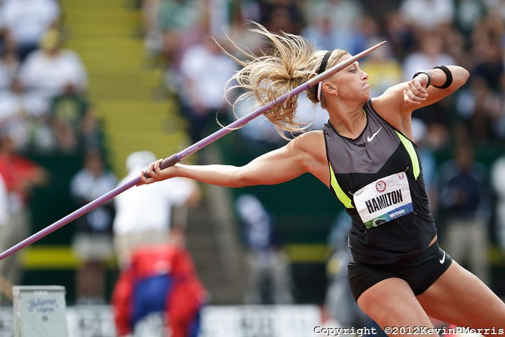2012 USA Track & Field Olympic Trials: Hamilton throwing the javelin. Photo © Kevin Morris Photography