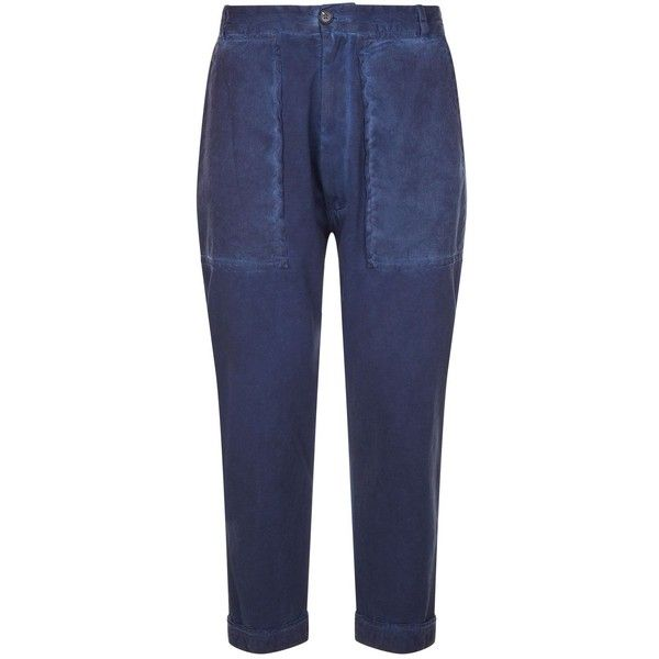 Vivienne Westwood Drop Crotch Cropped Trousers (€440) ❤ liked on Polyvore featuring men's fashion, men's clothing, men's pants, men's casual pants, mens drop crotch pants, mens cotton pants, mens cropped pants, mens low crotch pants and faded glory men's pants