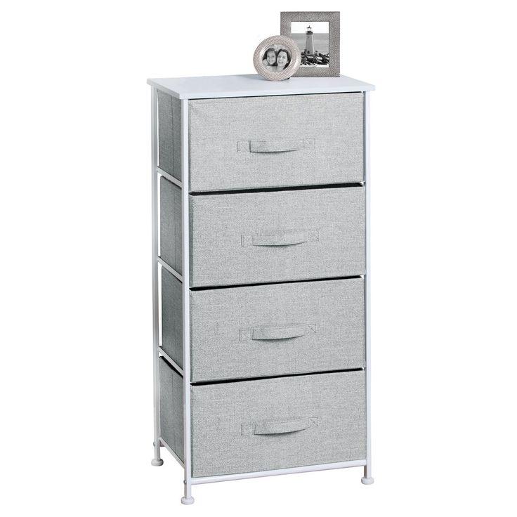 Fabric Four Drawer Storage Unit
