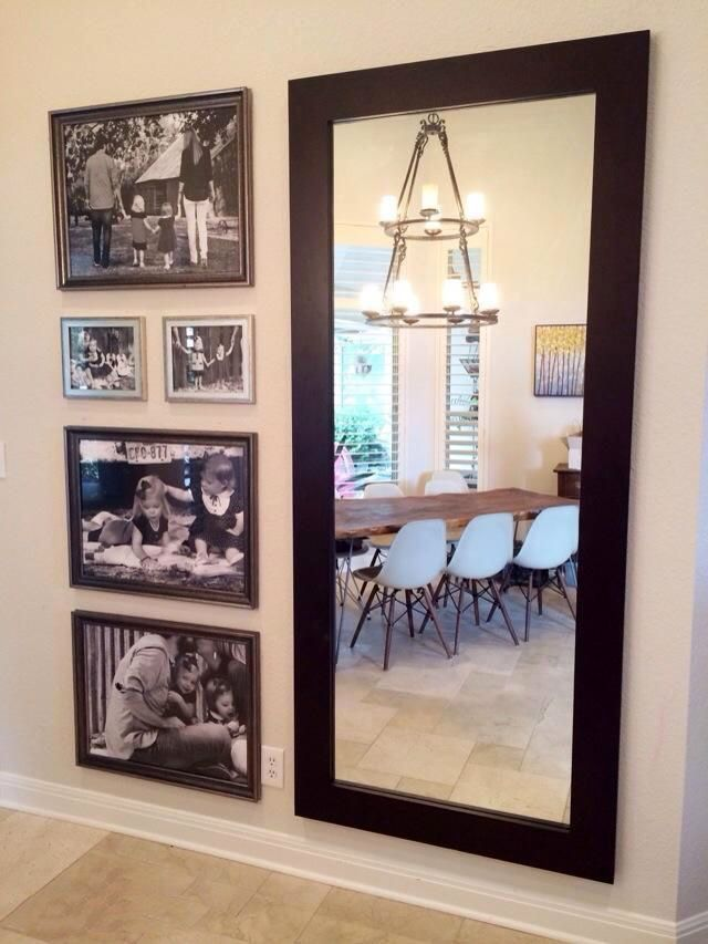 Sweet room decorated with personalized photo frames.