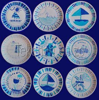 Tekenen en zo: Kijk nou: Delfts blauw!