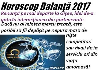 Horoscop 2017 Balanţă