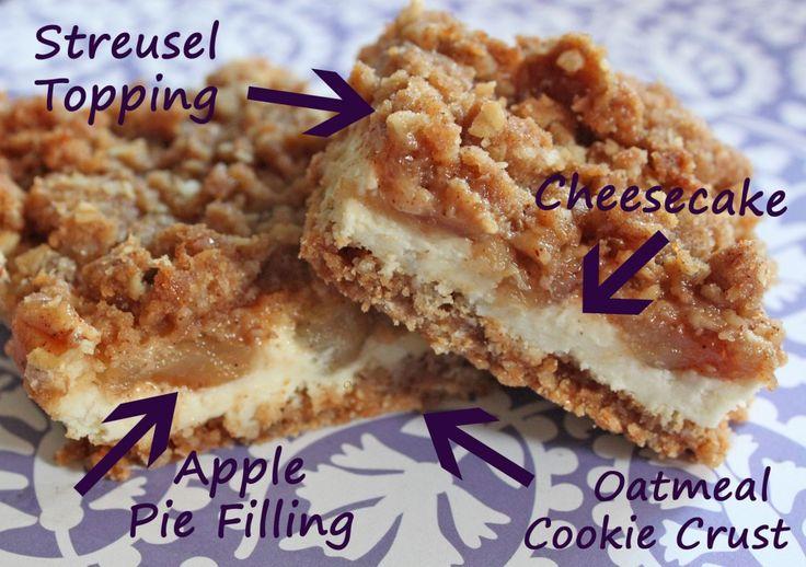 APPLE STREUSEL CHEESECAKE BARS 1 pouch (1 lb 1.5 oz) Betty Crocker ...