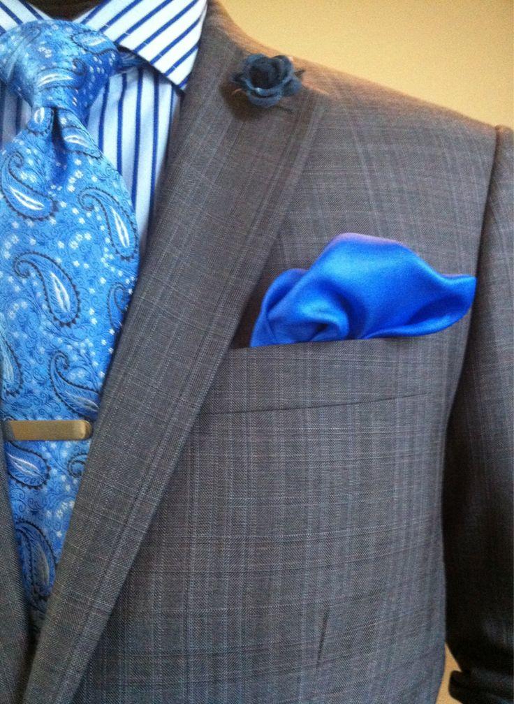 B L U E . . .: Suit Combos, Men S Fashion, Color, Mens Fashion, Clothing Accessories, Gentlemen Style, Menswear