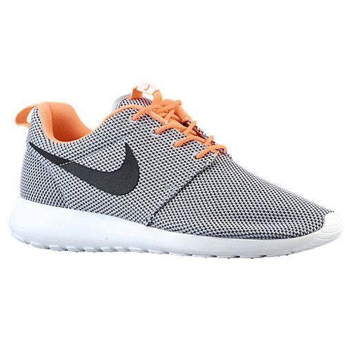 Nike Roshe Run - Men's - Running - Shoes - Wolf Grey/Atomic Orange/