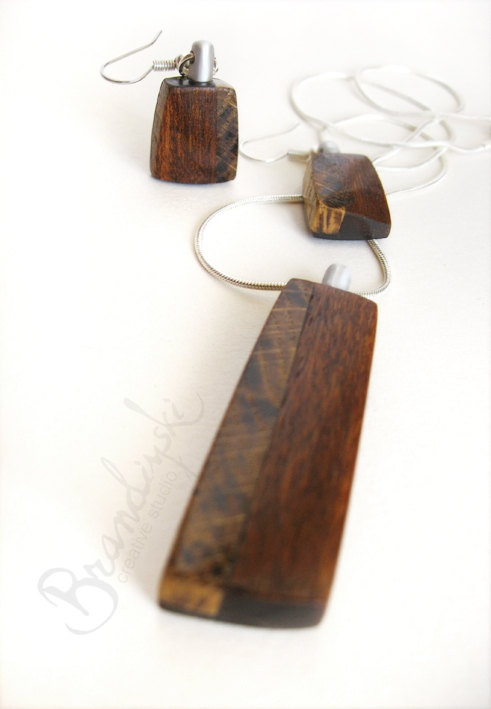 Wooden Jewelry Original Handmade Wooden By