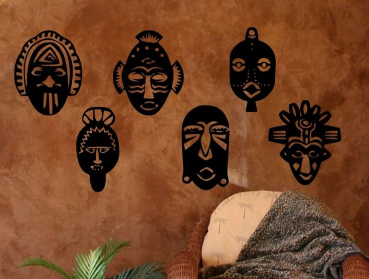 http://www.freckledhound.com/specials/exotic-african-mask-set-wall-decal-graphic.html