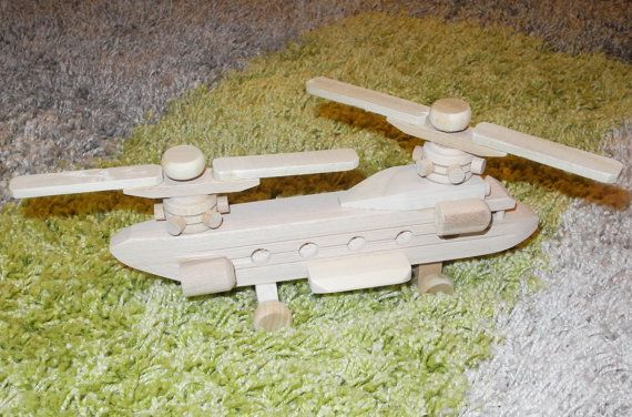 Wooden toys Helicopter Toddler toys Wood toy Kids toy от EcoToy, $22.99