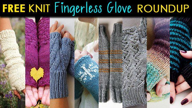 Free Knit Fingerless Glove