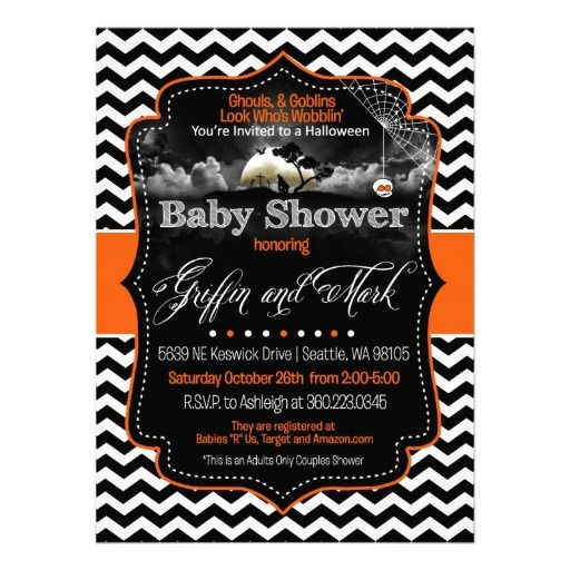 halloween baby shower invitations on pinterest pumpkin baby showers