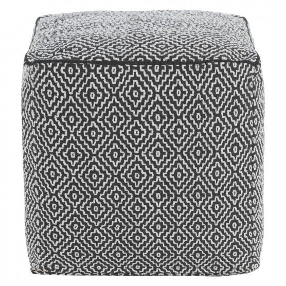 DURRIE Monochrome patterned footstool