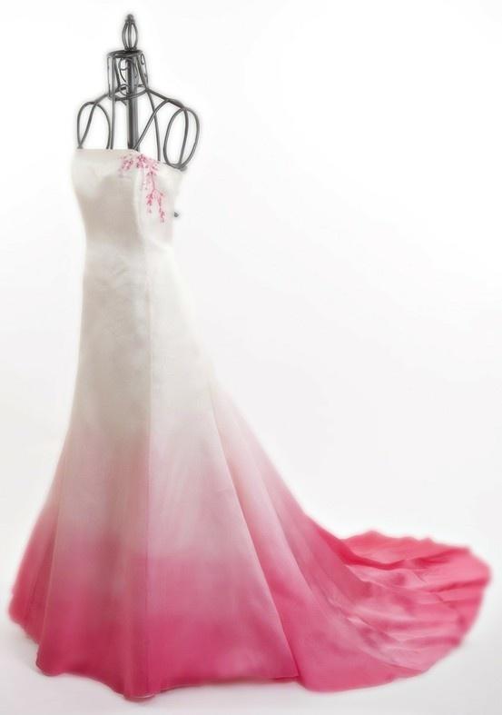 Ombre Wedding dress: Dresses Inspiration, Ball Gowns, Pink Weddings Dresses, Weddings Dresss, Ombré Dresses, Pink Ombre, Ombre Pink, Weddings Idea, Shadow Dresses