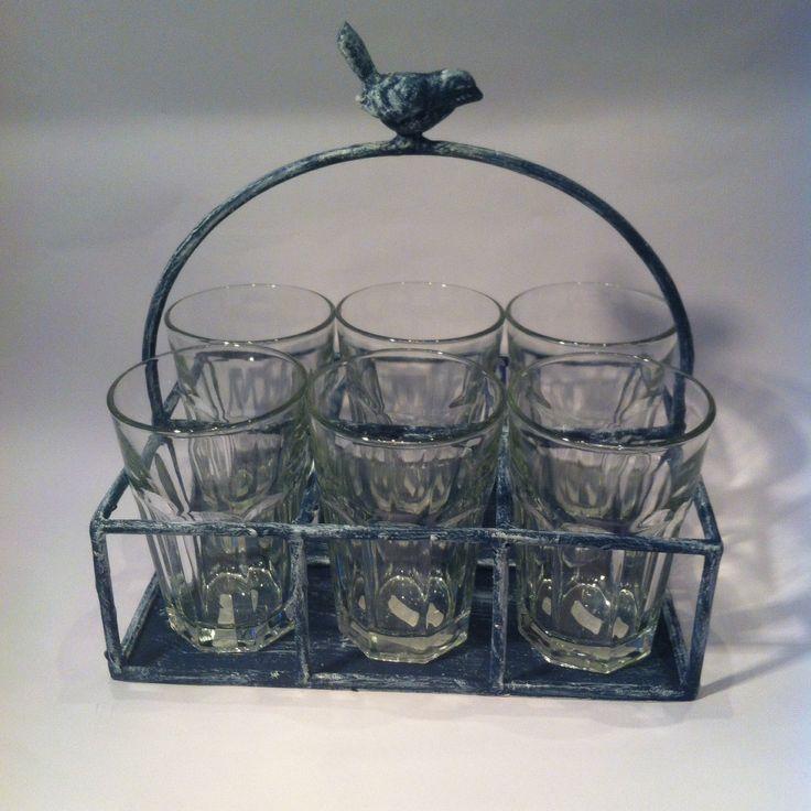 Practico canasto para vasos! Exclusivo de tienda Congracia