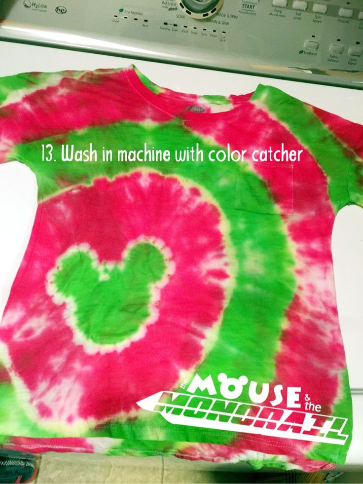 step by step tie dye instructions with pictures