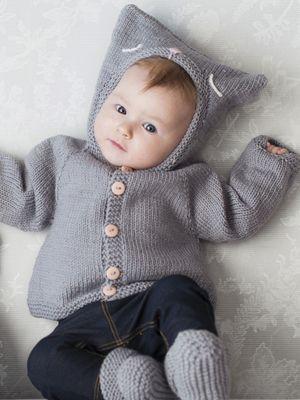 Vauvan hupullinen nuttu Novita Baby Wool | Novita knits