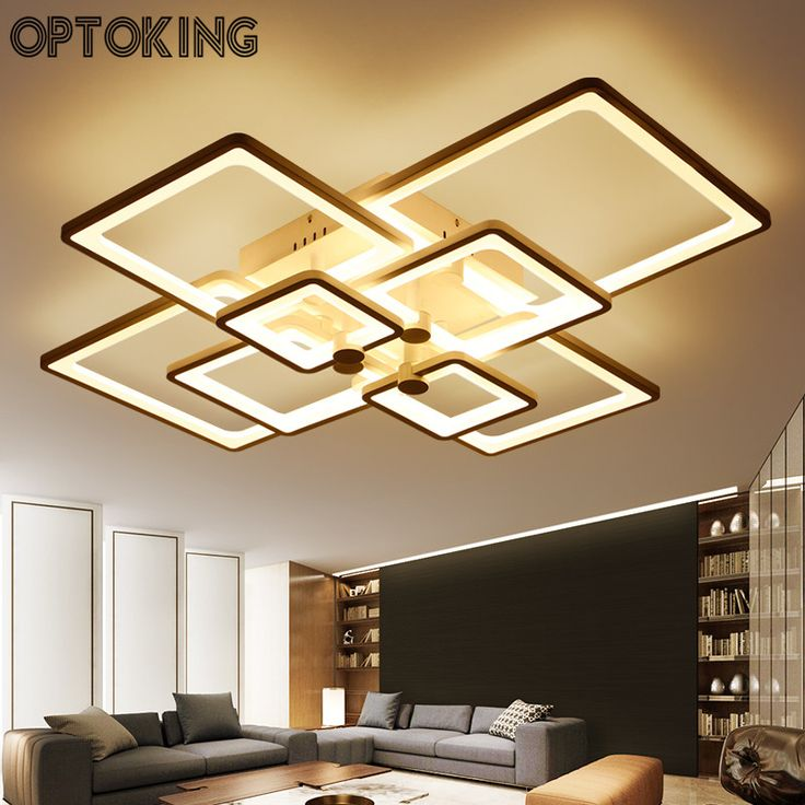 OPTOKING Modern DIY LED Ceiling Light Remote Controlling Living Room Lamps  Dimming Luminarias Para Sala Bedroom Part 98