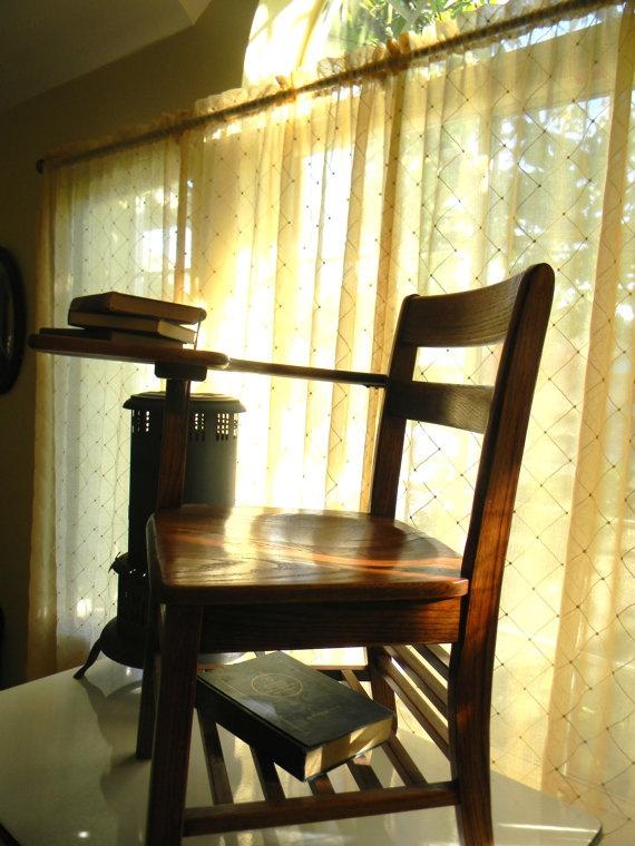 Antique Oak School Desk/Chair by LifeInStages on Etsy, $50.00 - 130 Best Vintage School Desk Images On Pinterest School
