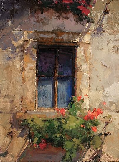 Sol en la mañana - Oleo por Kathryn Stats