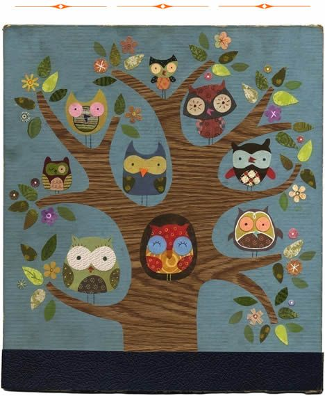 Friends of a FeatherOwls Trees, Trees Of Life, Owls Prints, Gift Wraps, Wraps Gift, Cars Accessories, Families Trees, Handmade Gift, Paper Collage