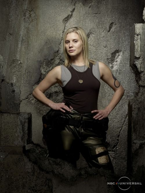I know she's not real, but Kara Thrace (a.k.a. Starbuck) is a total badass!