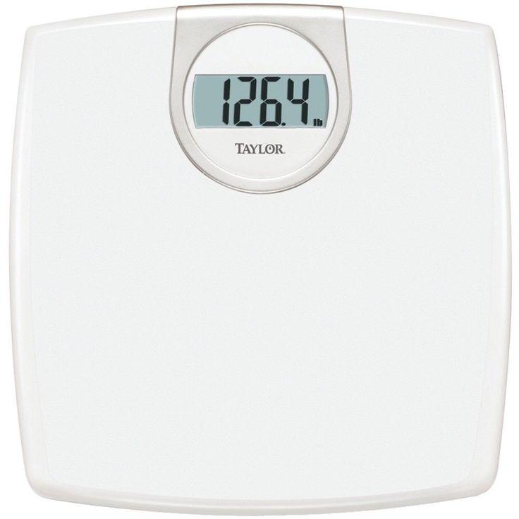 Taylor Lithium Digital Scale Bathroom Weight Management Measure Bath Health LCD #TAYLOR