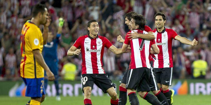 @Athletic euforia en 'La Catedral' después de golear al Barça #9ine