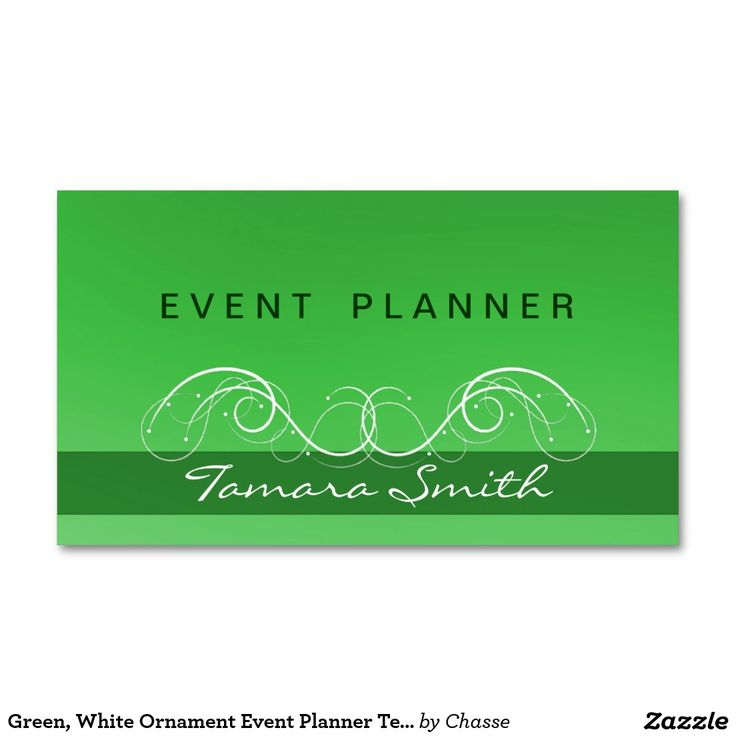 green white ornament event planner templates business